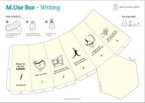 Zelfbouwpakketje pennenbak moleskine Schrijvers