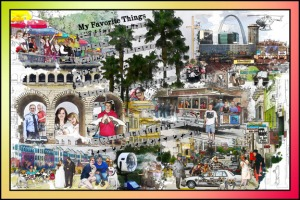 Voorbeeld van een collage 'Favorite Things'
