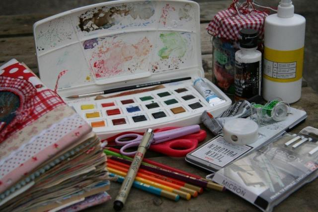 Art journaling tools