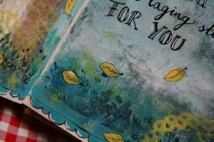 detail van een art journal pagina
