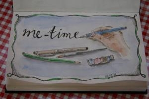 Een art journal pagina van Wilmi