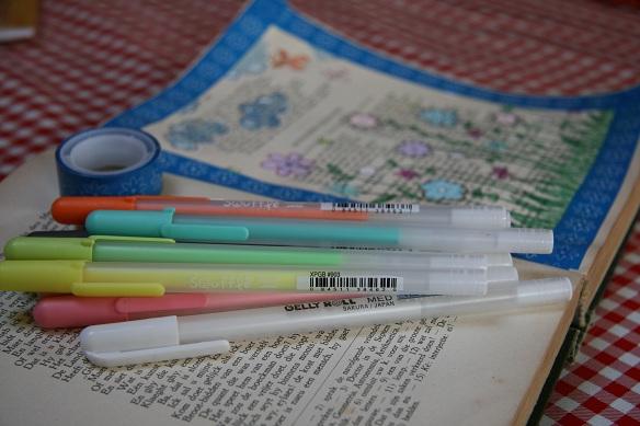 Art journaling met Sakura gelpennen